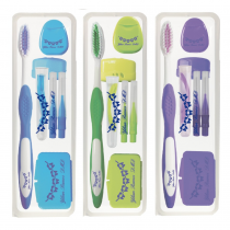 162 Orthodontic KIT Patient Oral Care Cleaning 7 Pieces 3 colors