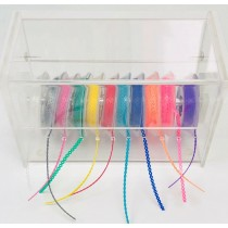 ACRYLIC DISPENSER Organizer with COVER(elastic chain are not included)