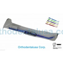 SET X 10 Dual Head 4 Row ORTHODONTIC Toothbrush Item #: 10001 V-Trimmed DENTAL